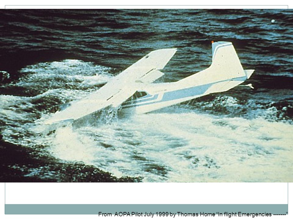 From AOPA Pilot July 1999 by Thomas Home In flight Emergencies -------