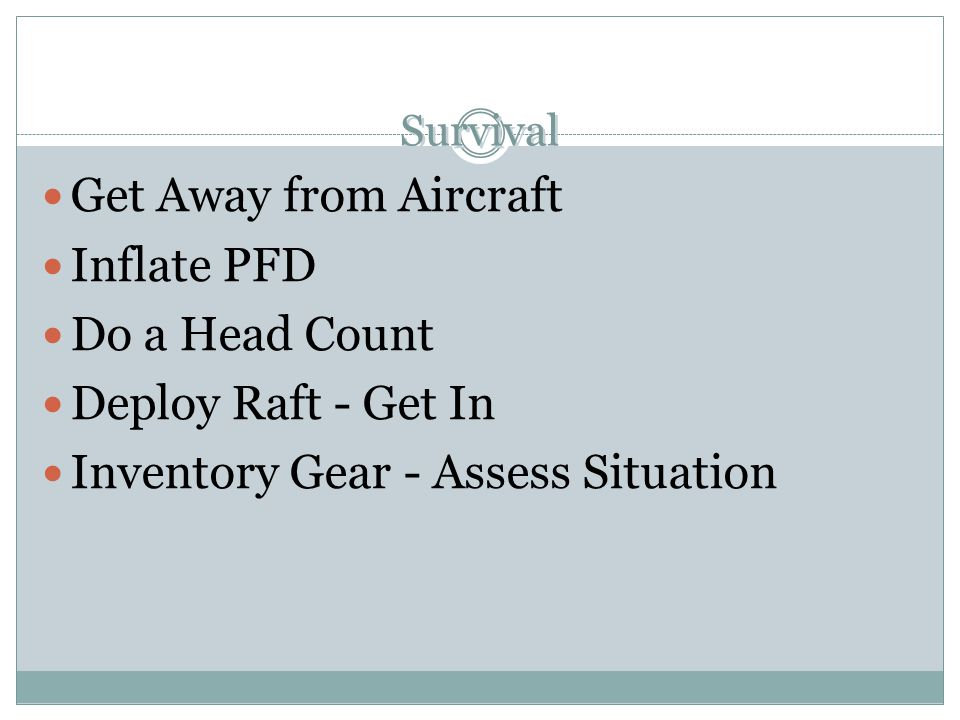 Inventory Gear - Assess Situation