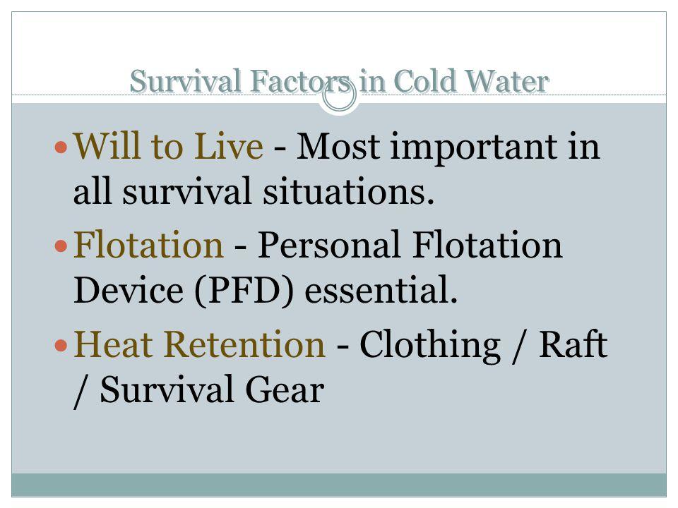Survival Factors in Cold Water