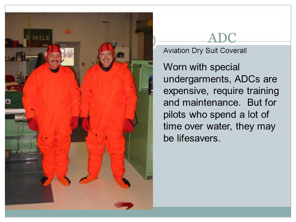 ADC Aviation Dry Suit Coverall.
