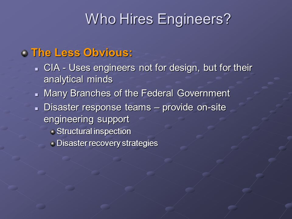 Who Hires Engineers The Less Obvious:
