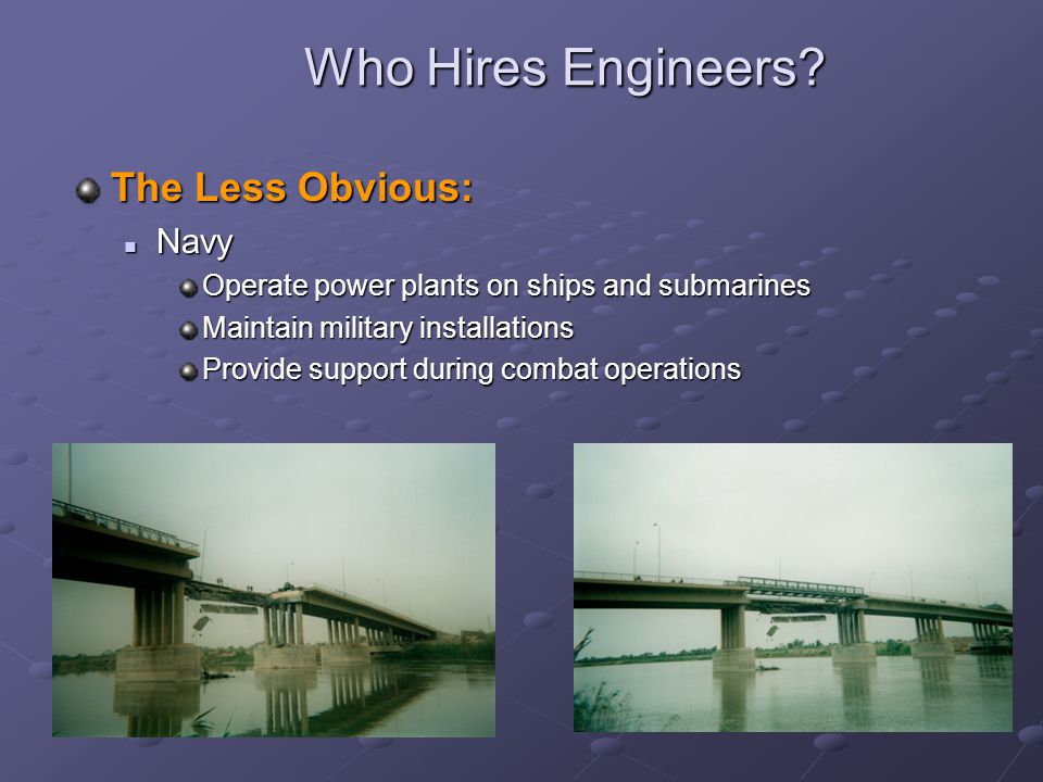 Who Hires Engineers The Less Obvious: Navy