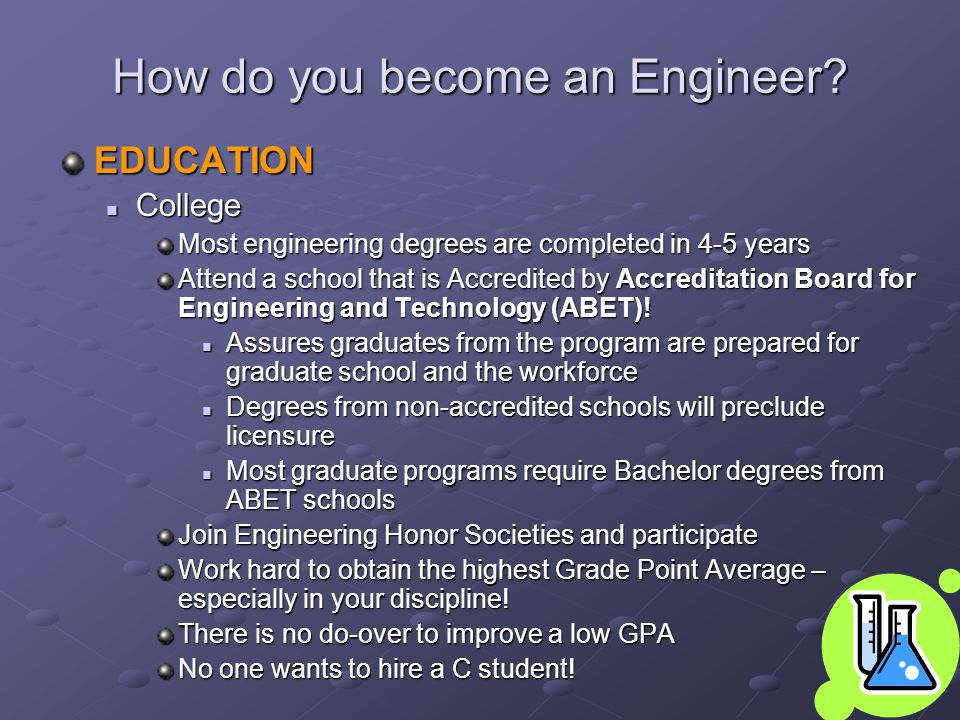 How do you become an Engineer