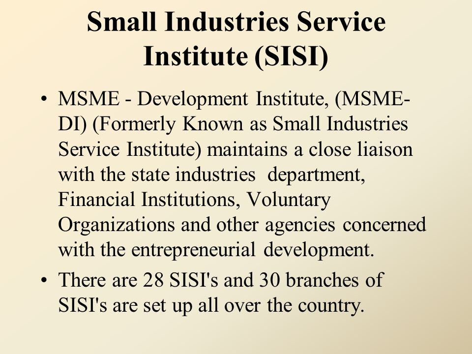 Small Industries Service Institute (SISI)