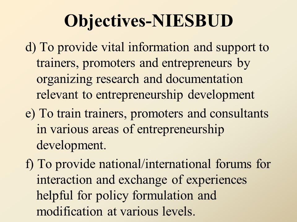 Objectives-NIESBUD
