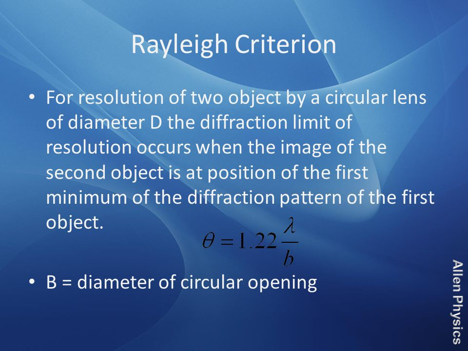 Rayleigh Criterion