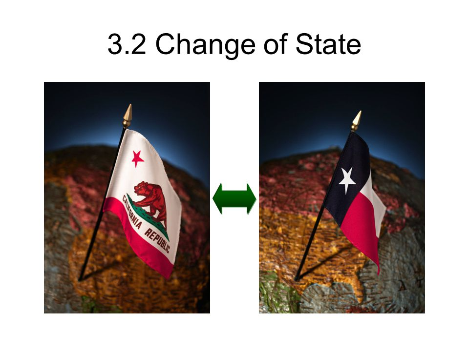 3.2 Change of State Not quite, but I thought it was funny.