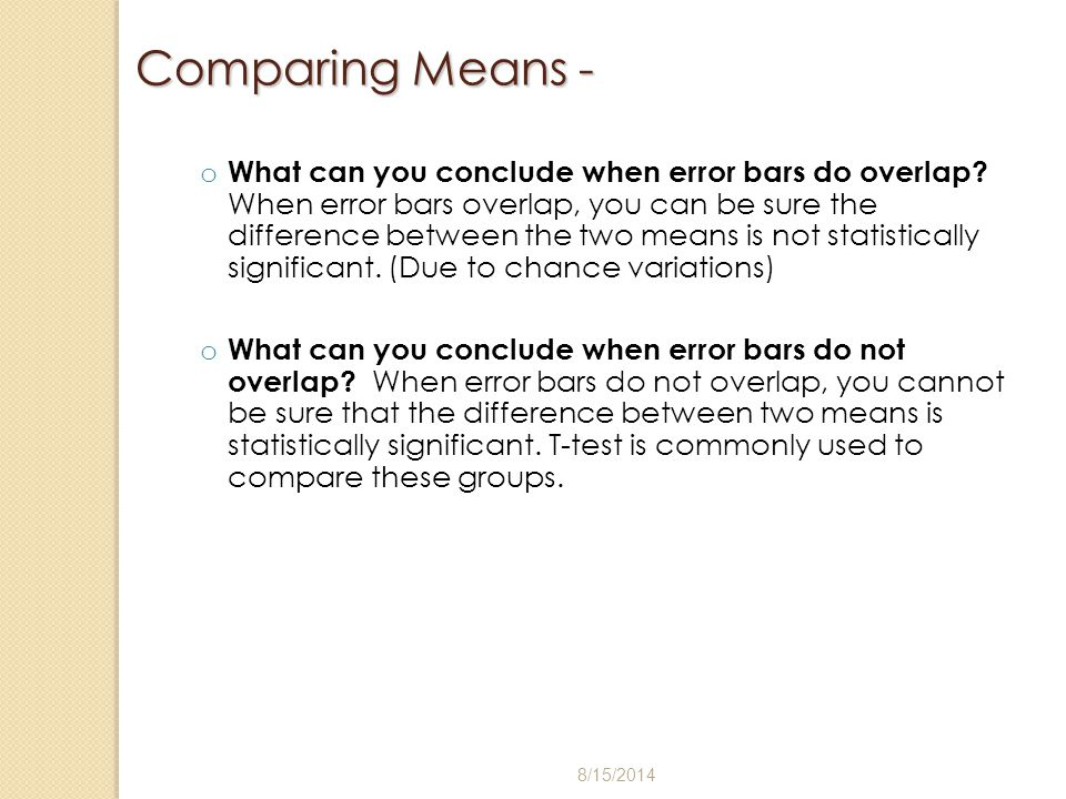 Comparing Means -