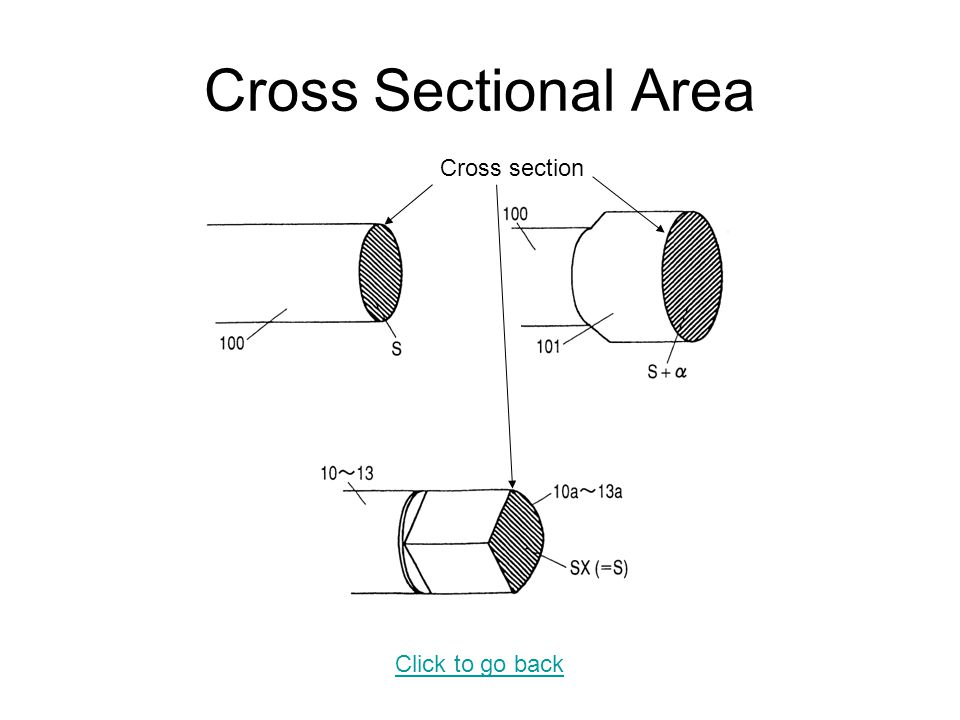 Cross Sectional Area Cross section Click to go back