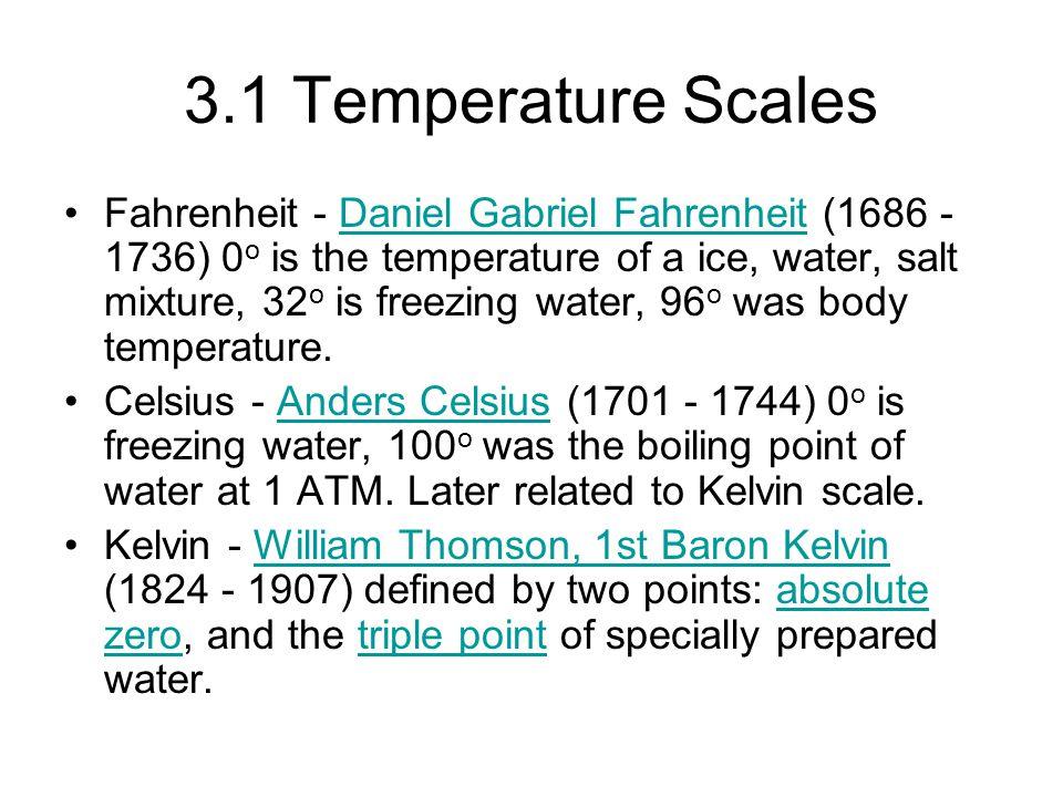 3.1 Temperature Scales