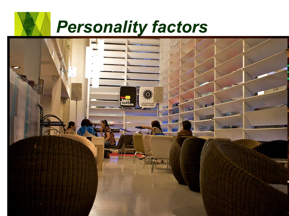 Personality factors Lifestyle: