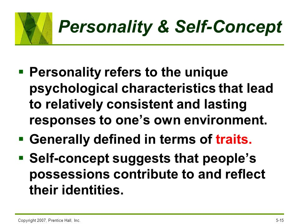 Personality & Self-Concept