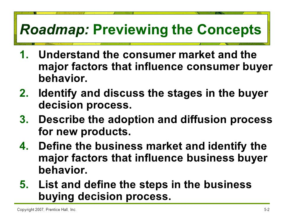 Identify and discuss the stages in the buyer decision process.