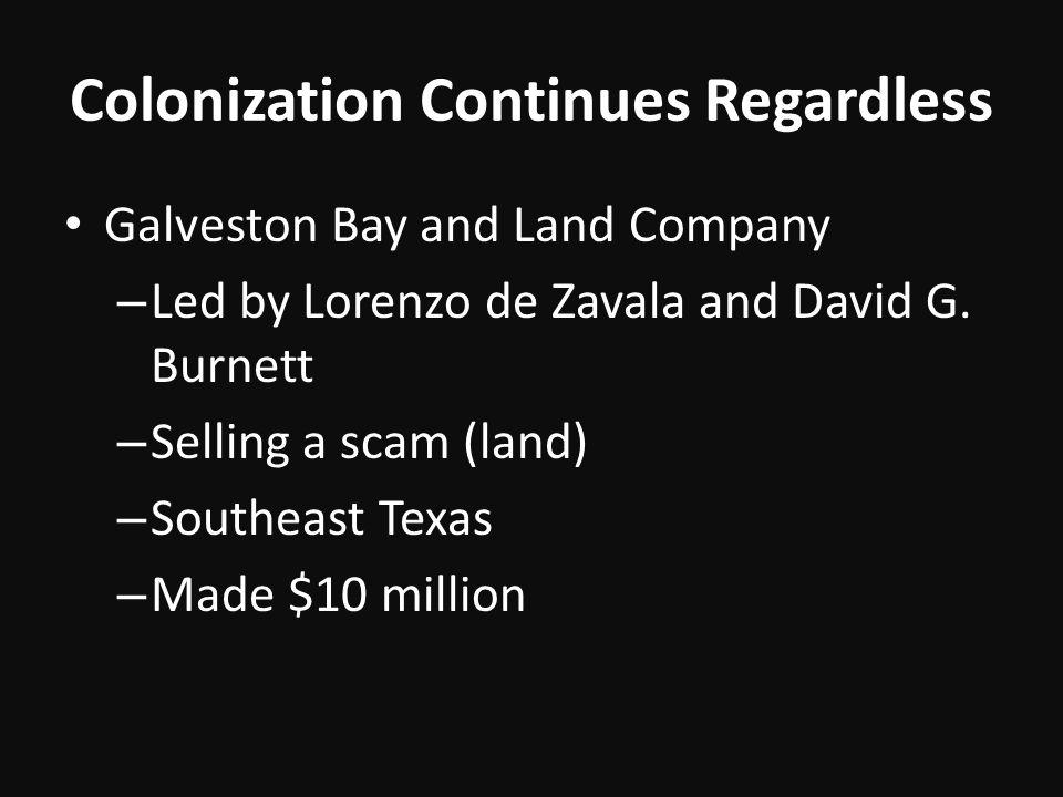 Colonization Continues Regardless