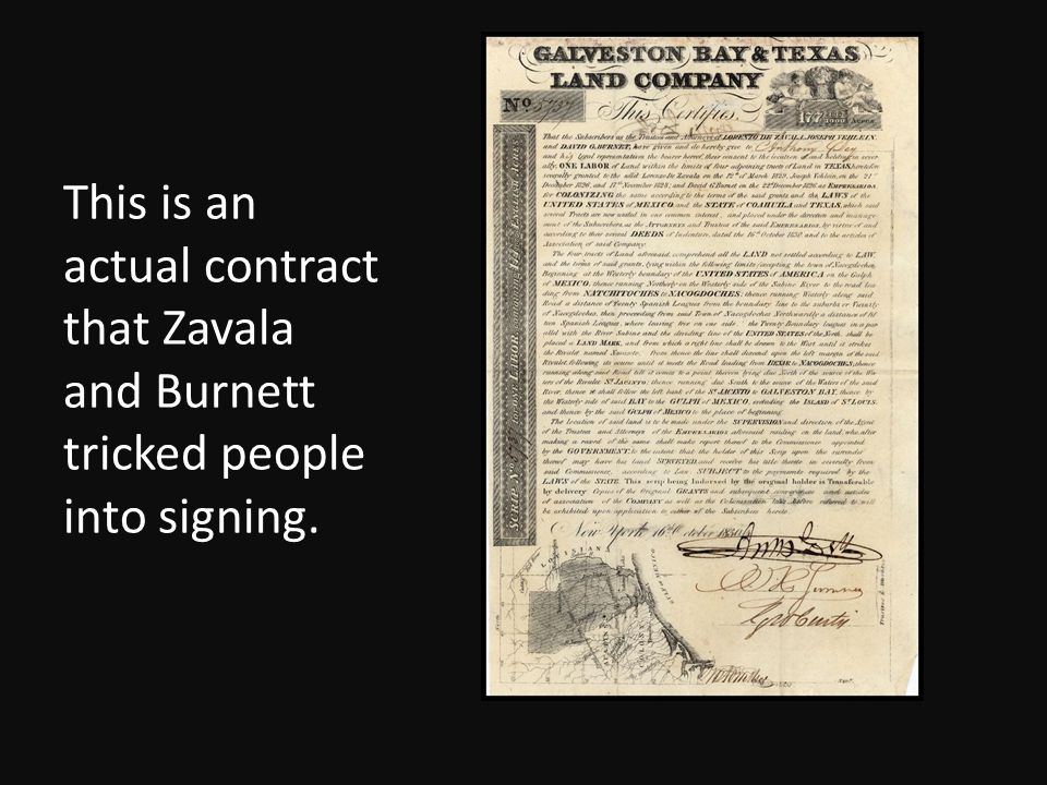 This is an actual contract that Zavala and Burnett tricked people into signing.