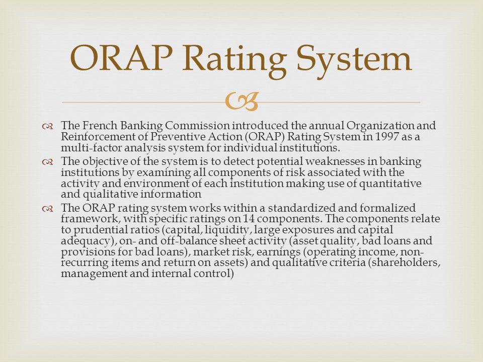 ORAP Rating System
