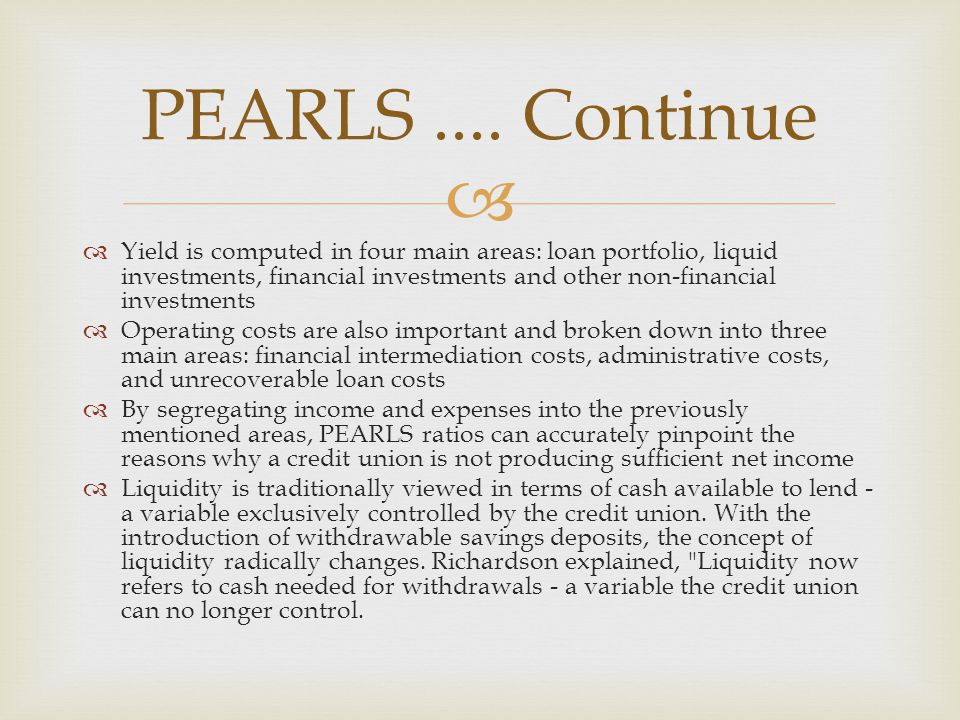 PEARLS .... Continue