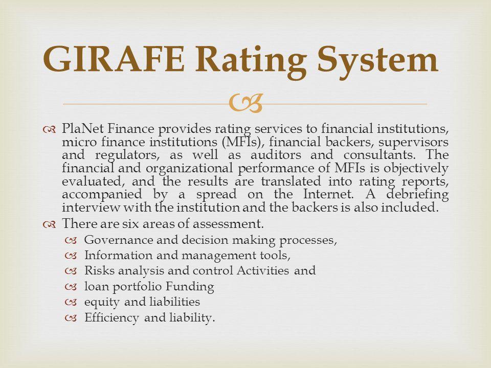 GIRAFE Rating System