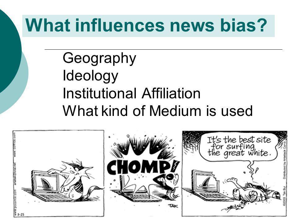 What influences news bias