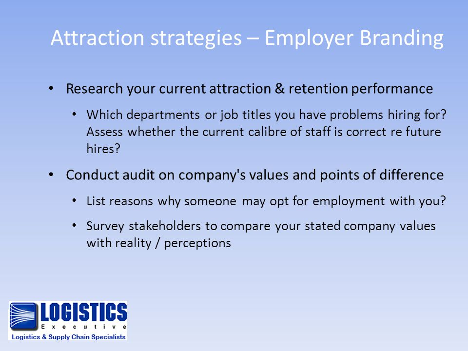 Attraction strategies – Employer Branding