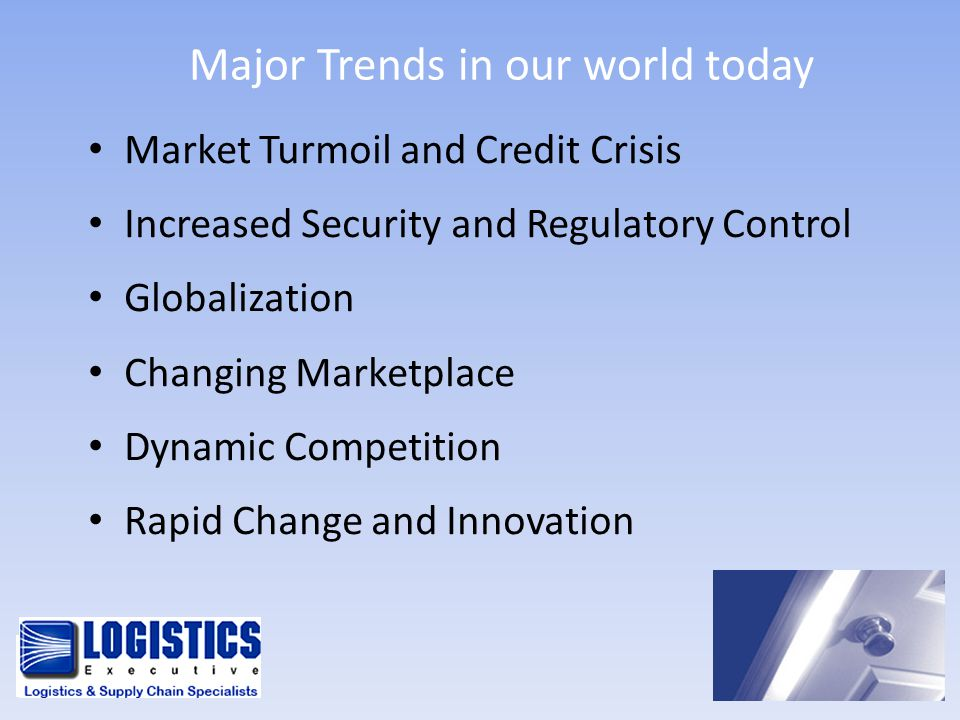 Major Trends in our world today