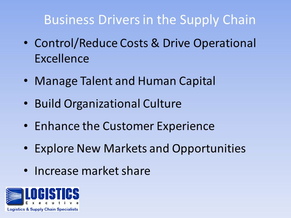 Business Drivers in the Supply Chain