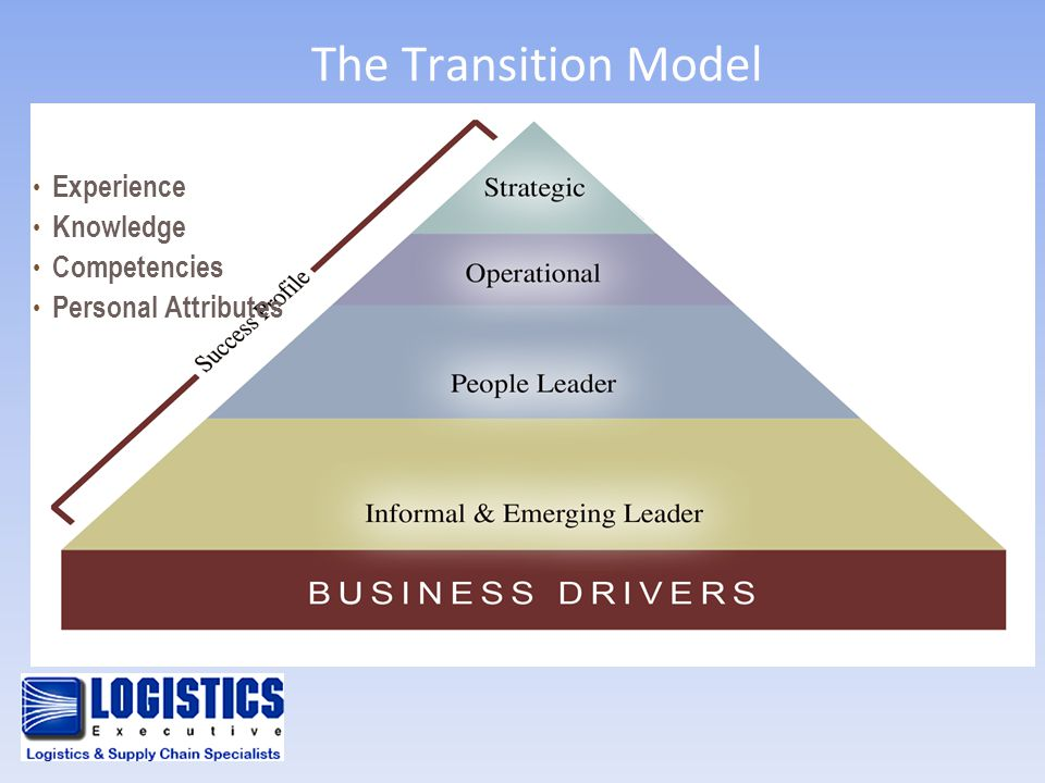 The Transition Model Experience Knowledge Competencies