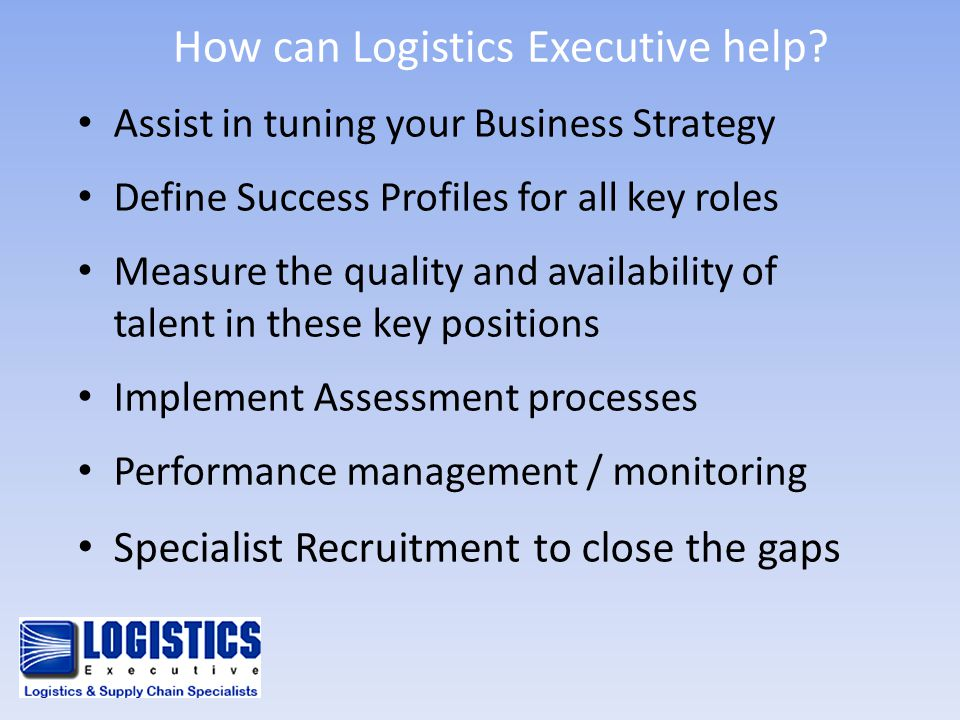 How can Logistics Executive help