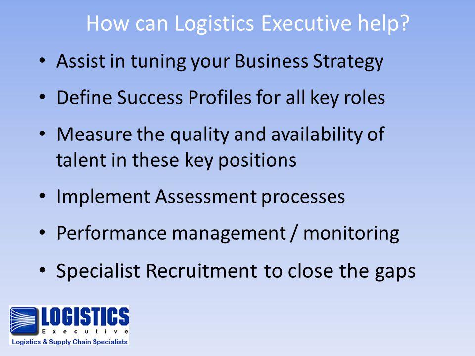 How can Logistics Executive help