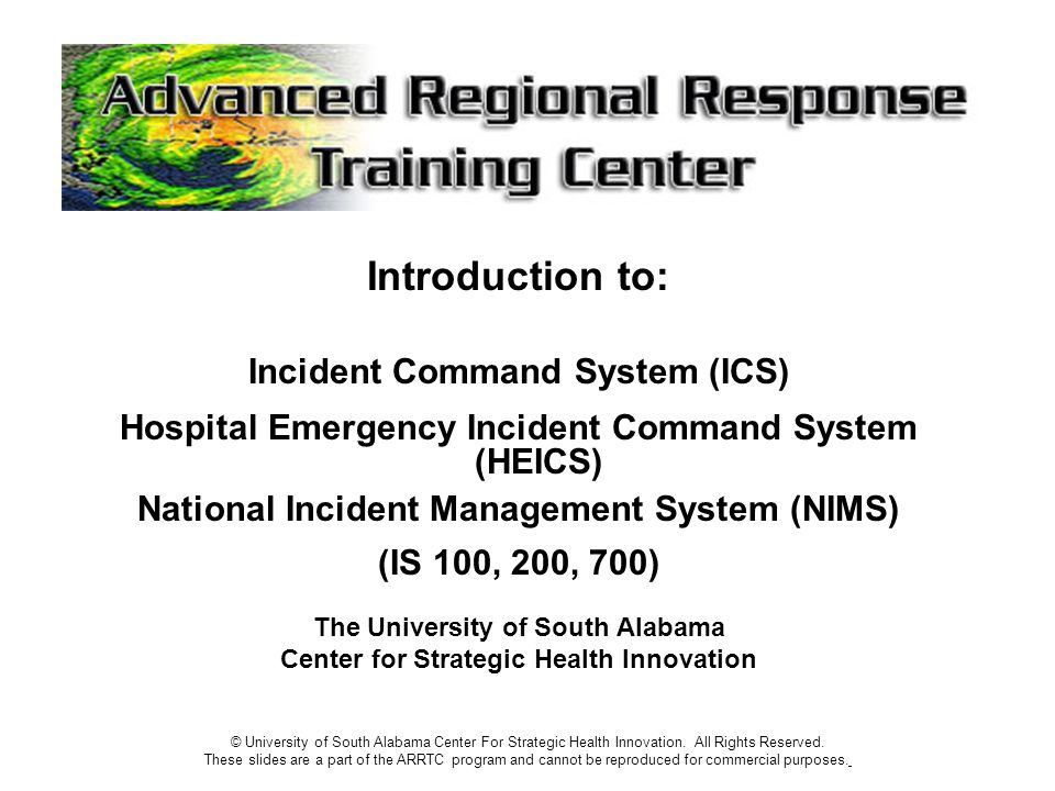 Introduction to: Incident Command System (ICS)