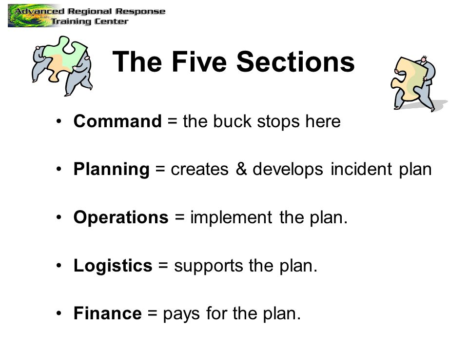 The Five Sections Command = the buck stops here