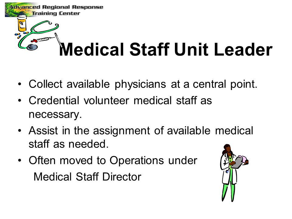 Medical Staff Unit Leader