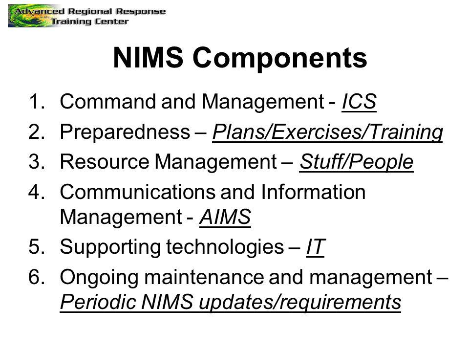 NIMS Components Command and Management - ICS