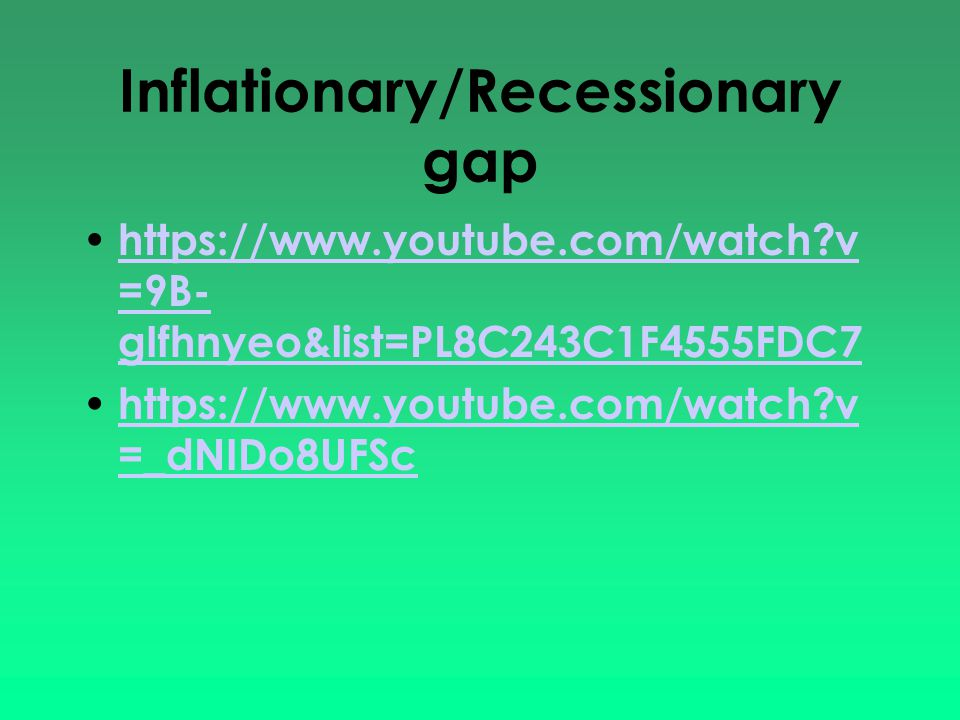 Inflationary/Recessionary gap