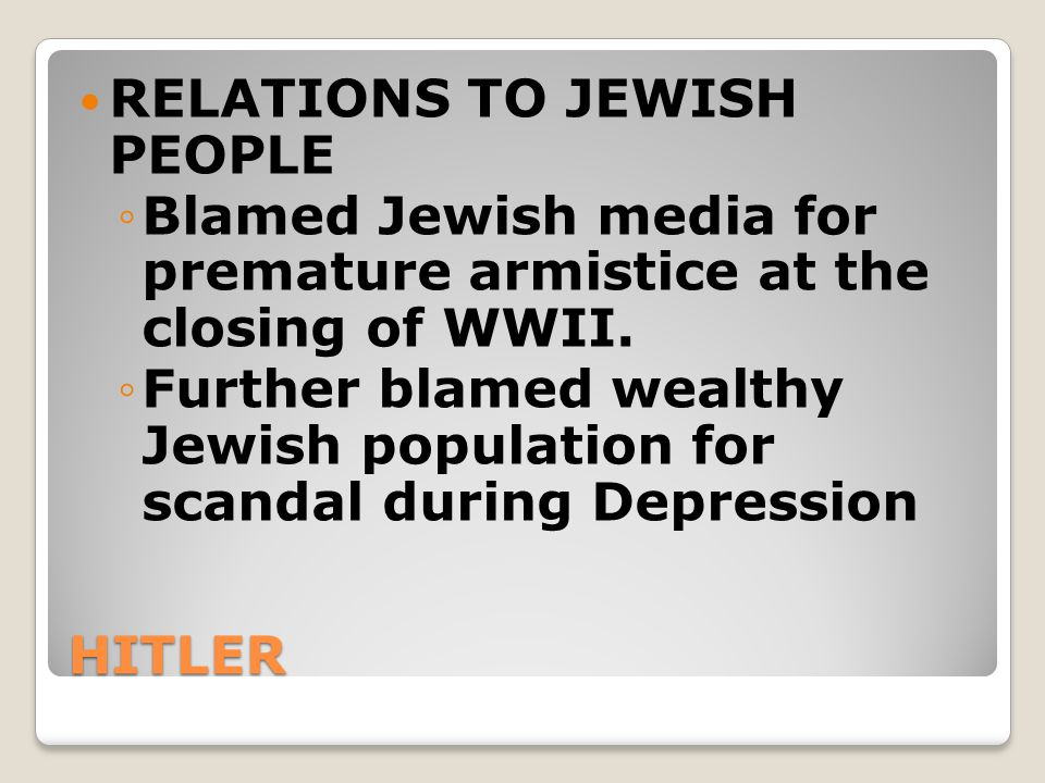 RELATIONS TO JEWISH PEOPLE