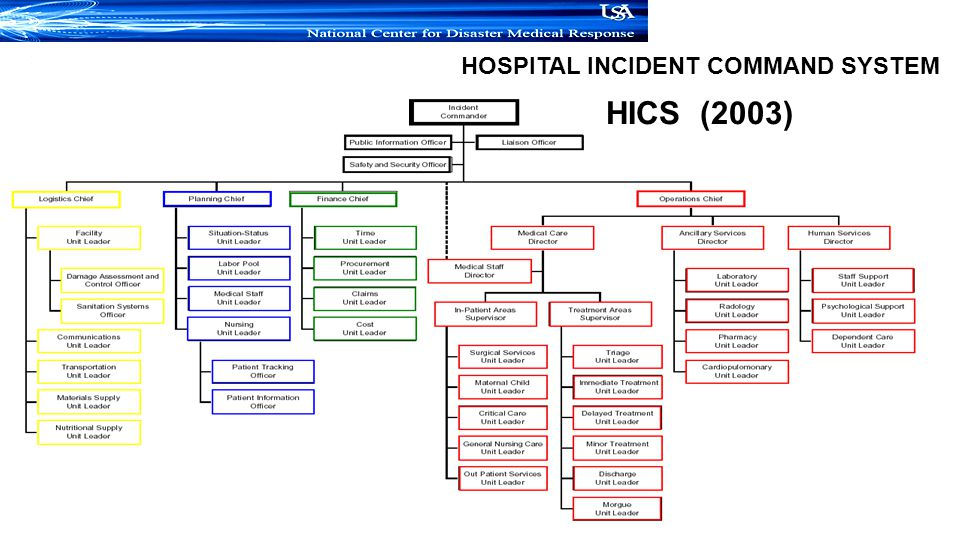 Hospital Incident Command System Organizational Chart Image