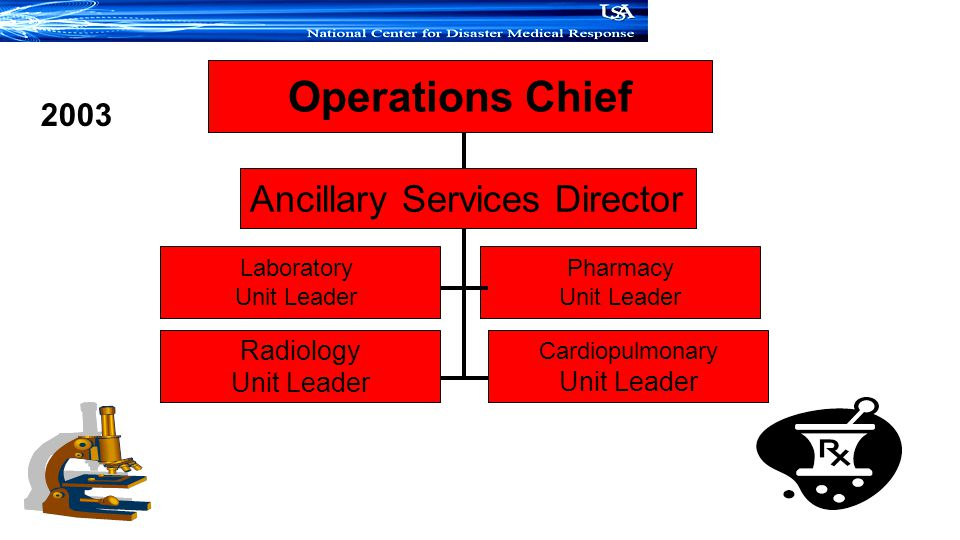 Operations Chief Ancillary Services Director 2003 Radiology