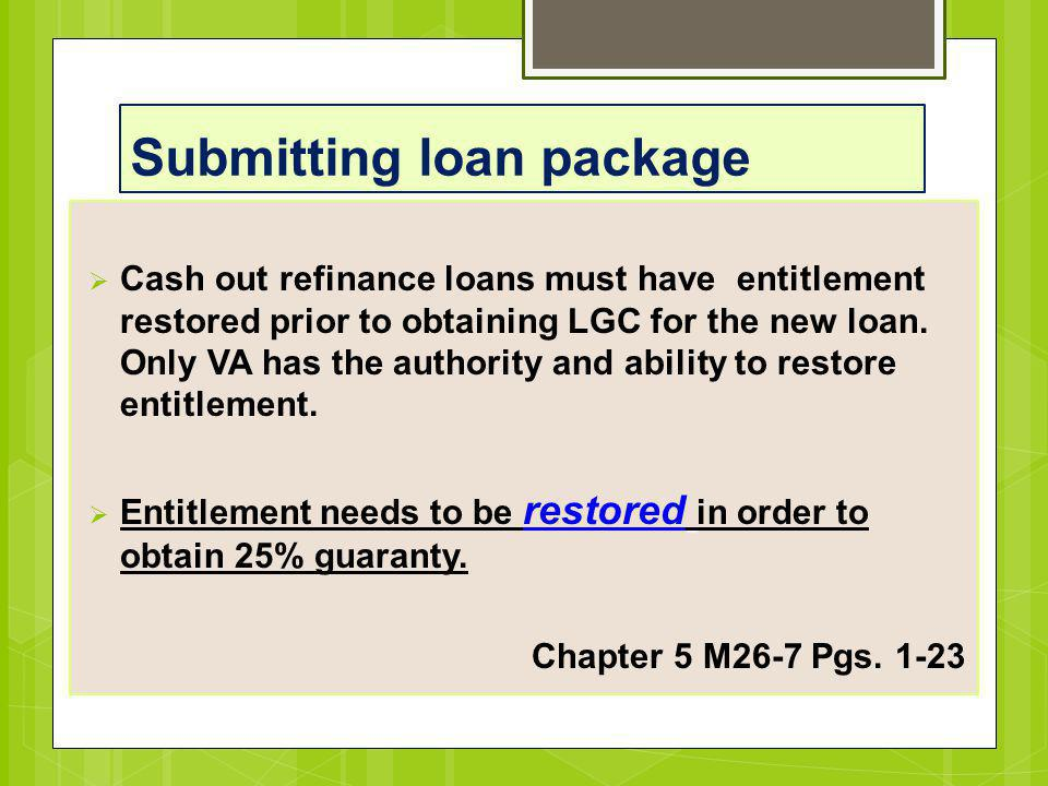 Submitting loan package