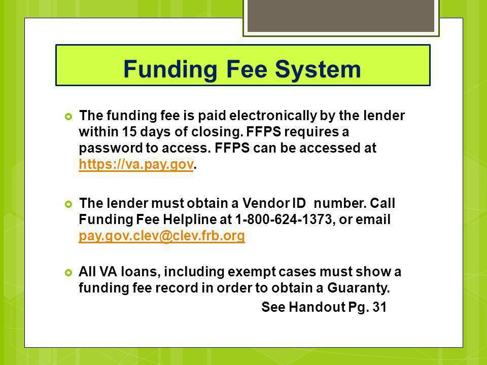 Funding Fee System