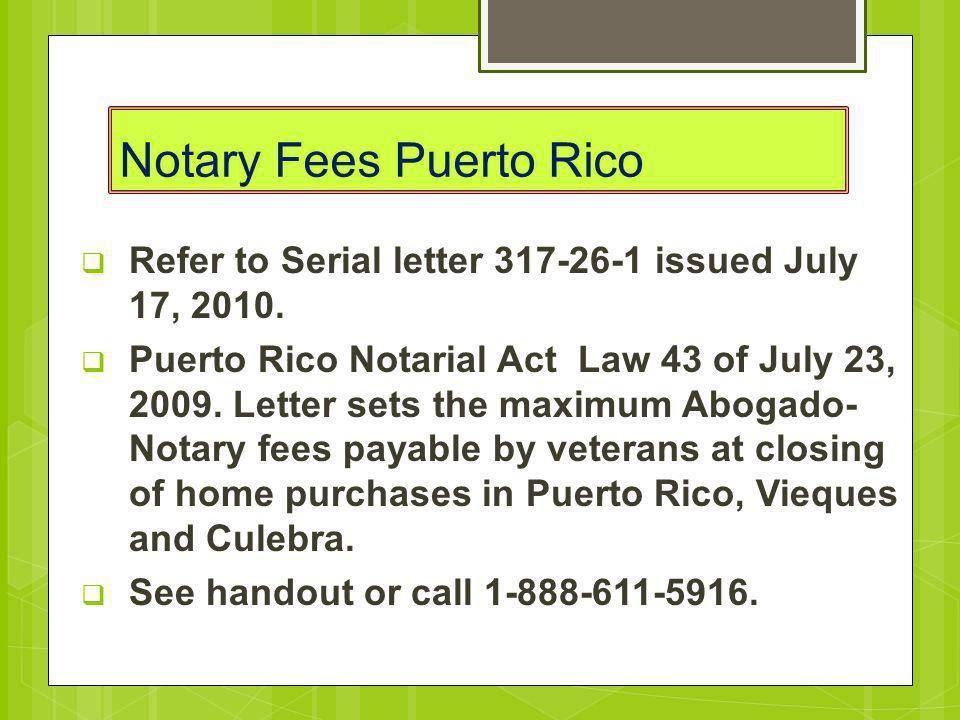 Notary Fees Puerto Rico