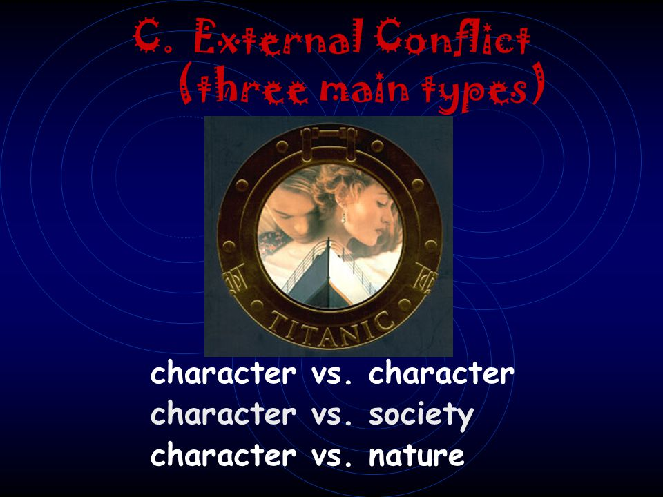 External Conflict (three main types)