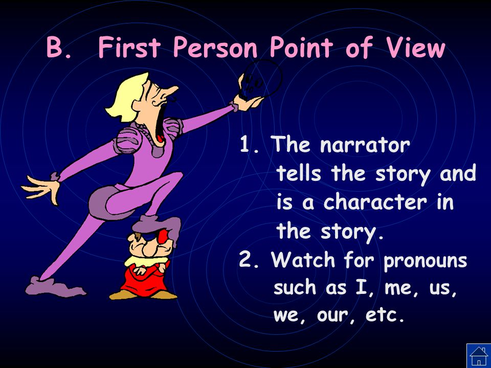 B. First Person Point of View
