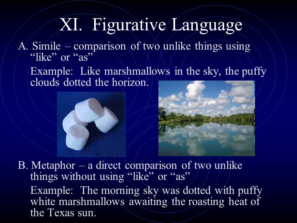 XI. Figurative Language