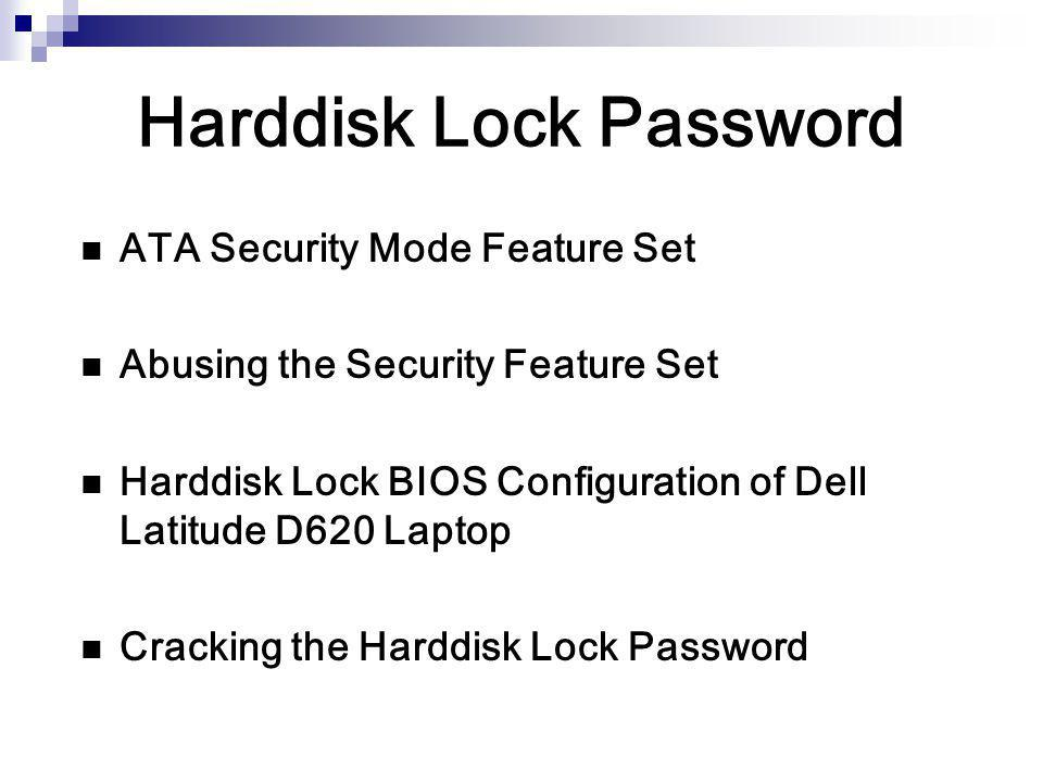 Harddisk Lock Password