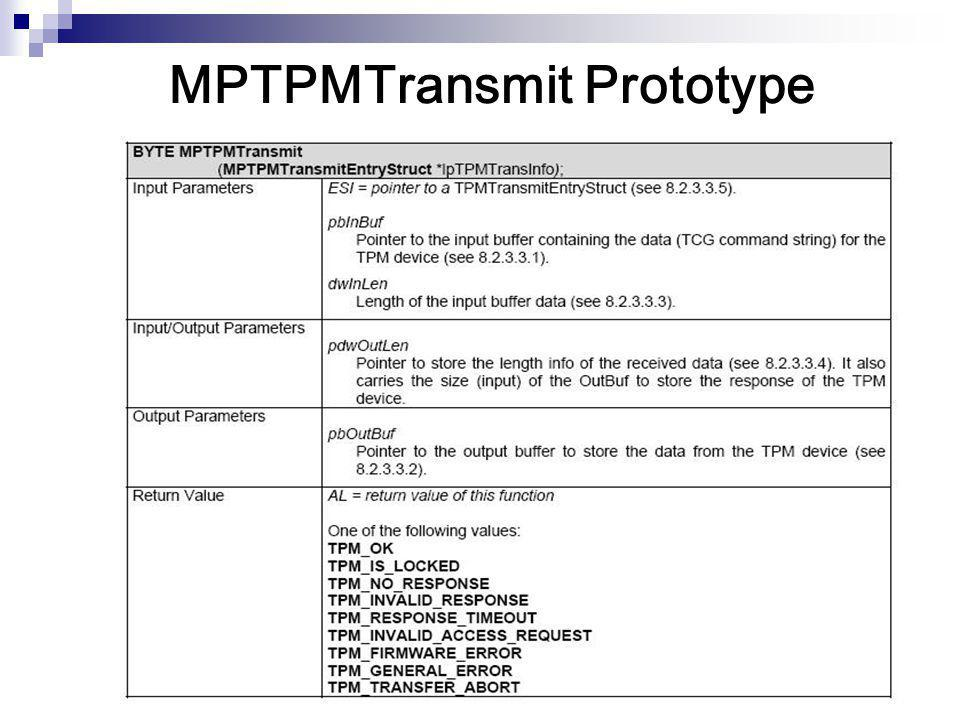MPTPMTransmit Prototype