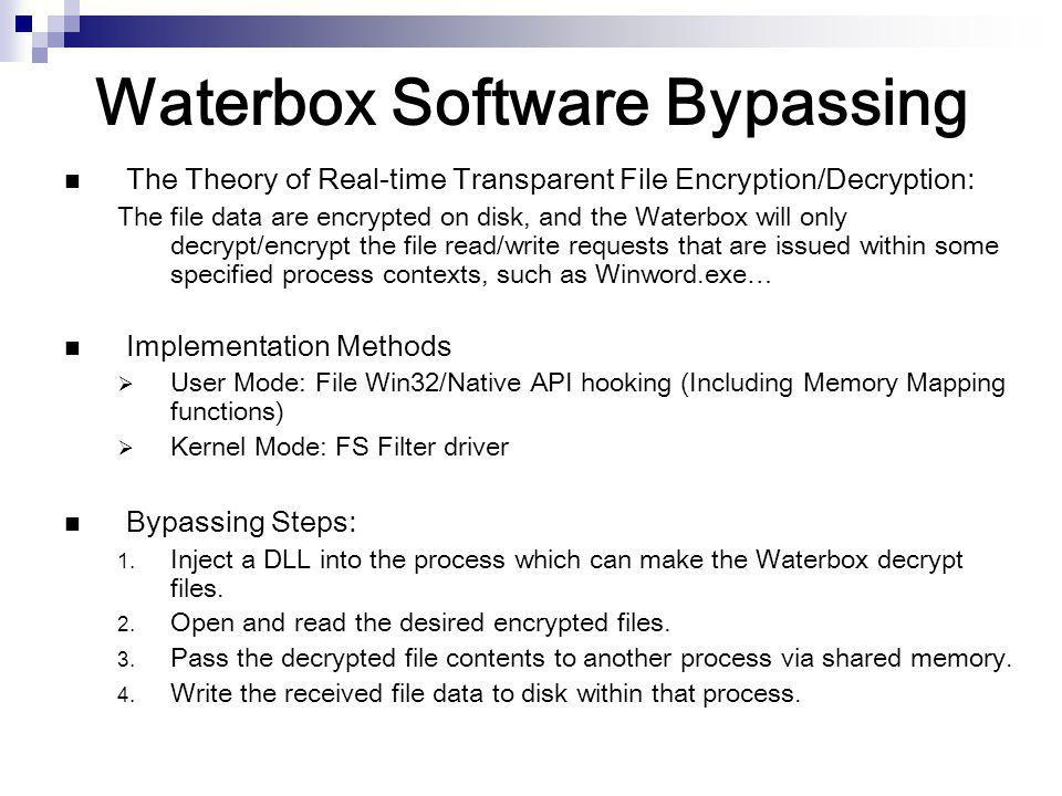 Waterbox Software Bypassing
