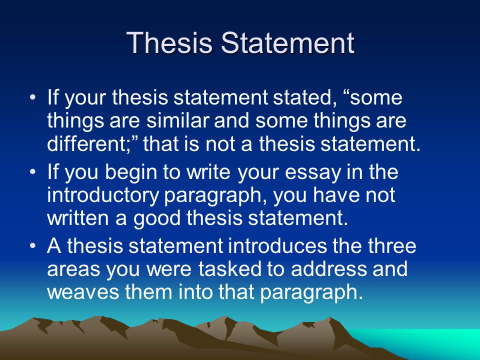 dbq essay thesis statement