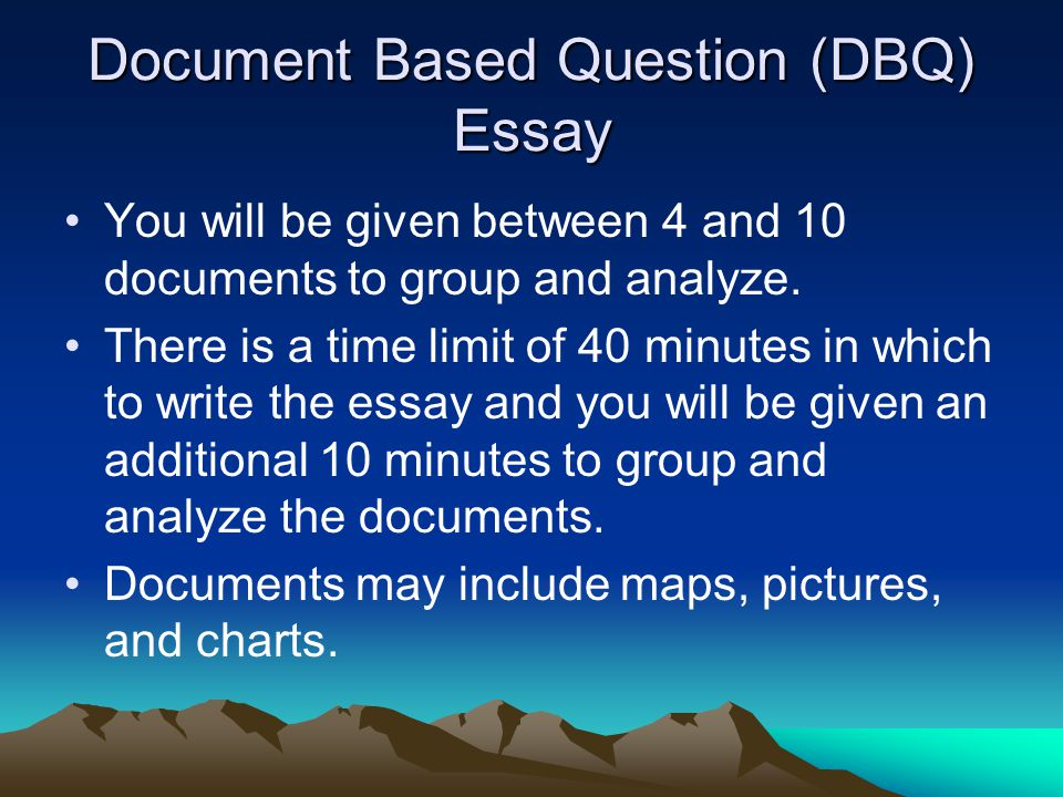 write dbq essay How to write a dbq hannah richert  how to write a document based question (dbq) for apush,  how to write a long essay question.