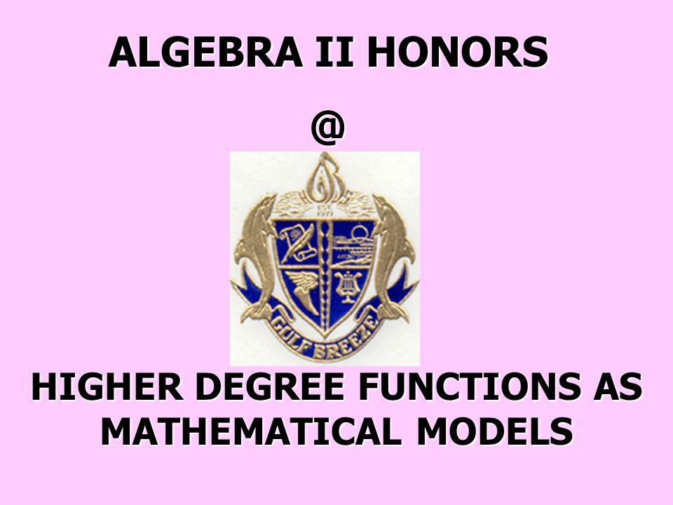 ALGEBRA II HONORS/GIFTED - SECTION 10-6