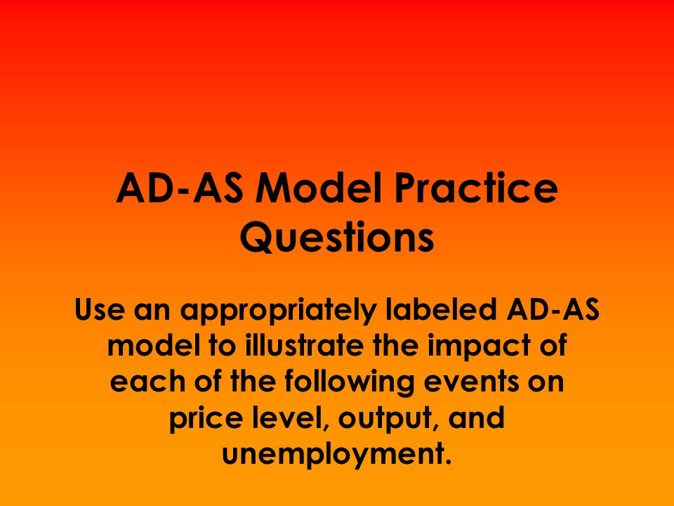 AD-AS Model Practice Questions